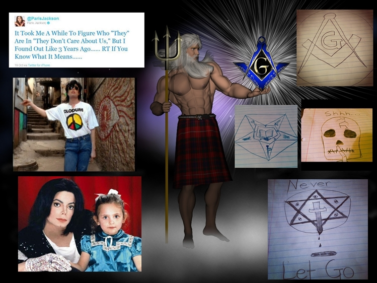 Michaels-Daughter-Paris-Jackson-and-illuminati-Mason-drawings-twitter-tweet