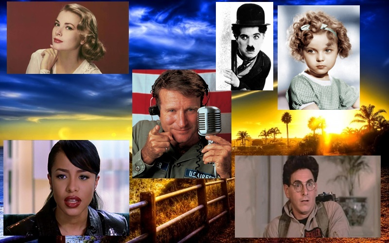 Robin-Williams-Aaliyah-Grace-Kelly-Harold-Ramis-Shirley-Temple-Charlie-Chaplin