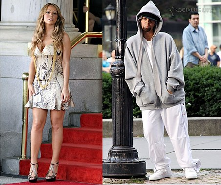 "#3209895 Mariah Carey surprised the fans and crew around her as she did a little bit of cross-dressing outside the Plaza Hotel in New York City, New York June 29, 2009. Carey dressed as a chauffeur, but the best was when the beautiful singer came out as an Eminem look a like during the filming of her new music video ""Obsessed"", which happens to be featured on Mimi's soon-to-be released album called ""Memoirs of an Imperfect Angel"". The track is in response to Eminem's recent lyrical attacks of Miss Carey and her hubby, Nick Cannon. Fame Pictures, Inc - Santa Monica, CA, USA - +1 (310) 395-0500"