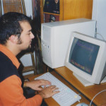 TST WITH HIS COMPUTER