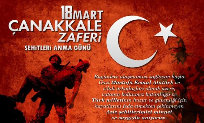 18 Mart Çanakkale Zaferi Kutlu Olsun!