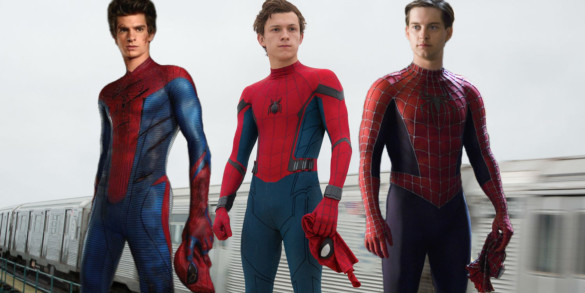 Spider-Man-Andrew-Garfield-Tom-Holland-and-Tobey-Maguire-585x293