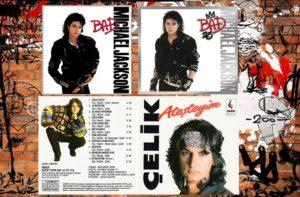 """ÇELİK ERİŞÇİ: """"İzel Çelik Ercan"""" grubundan ayrıldıktan sonra ilk solo albümü """"Ateşteyim""""i çıkaran Çelik'in bahsettiğim debut albümünün kapağının dizaynı aynı Michael Jackson'ın """"Bad"""" albümüne benziyor. Siyah fontlarla yandan yazılmış sanatçı isminin üzerine graffiti gibi kırmızı sprey boyayla yazılmış albüm ismi ve beyaz arka plan önünde donuk bakışlar… Ama """"Ateşteyim"""" de süper albümdü ya…"""