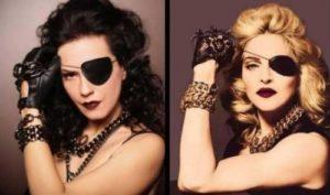 """YEŞİM SALKIM: Bir klip değil ama 'Duymayan Kalmasın' isimli şarkısı için fotoğrafçı """"Eren Yiğit""""in karşına çıkan """"Salkım""""ın verdiği pozun aynısını 2010 senesinde Madonna'nın bir projesi için çektirmesinden bahsetmeden geçemedim. Ayrıca illuminati kokan aynı pozu Tarkan, Hande Yener ve Hülya Avşar da vermişti daha önce… Bahsettiğim pozları http://www.tst.gen.tr/illuminati-ve-muzik-dunyasi/ adresinden görebilirsiniz."""