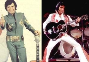 EROL BÜYÜKBURÇ: İkisi de rahmetli oldular. Biri Rock'n'Roll'un Kralı Elvis Presley, diğeriyse ilk popstarlarımızdan birisi olan Erol Büyükburç... Erol Büyükburç sadece tek bir klibiyle ya da albüm kapağıyla değil; tüm sanat kariyeri boyunca idolü Elvis Presley'i taklit etti. Hem hareketlerini, hem de kostümlerini... Sonra da onun yanına gitti...